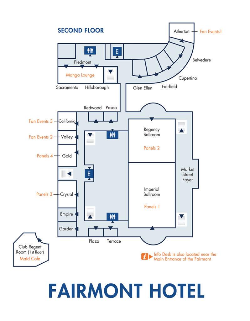 Fairmont Hotel Map
